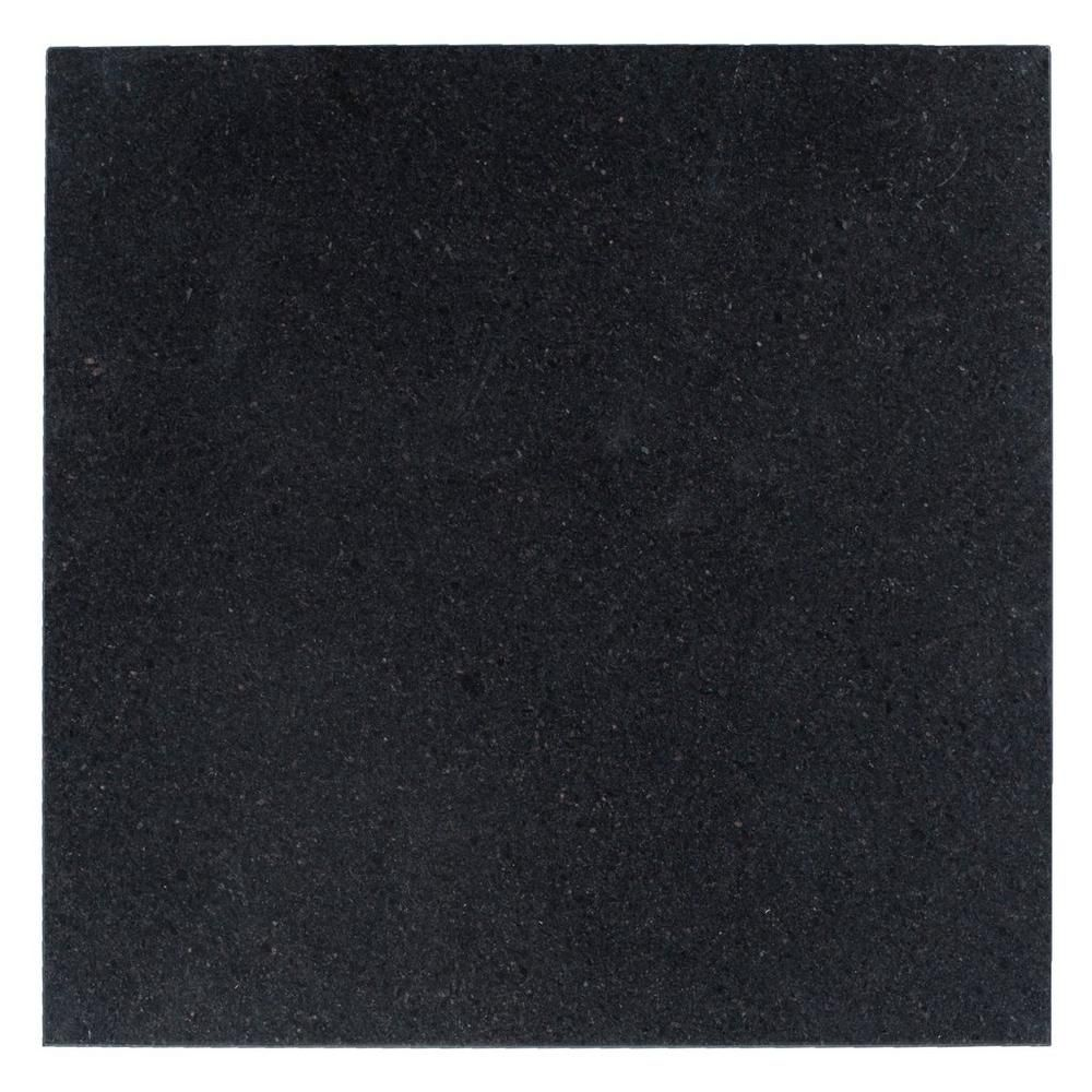 Black Galaxy Honed Granite Tile 18in X 100195981 Floor And
