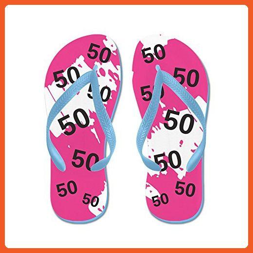3641f2fe41ad CafePress - Pink 50Th Birthday Gag Gift - Flip Flops