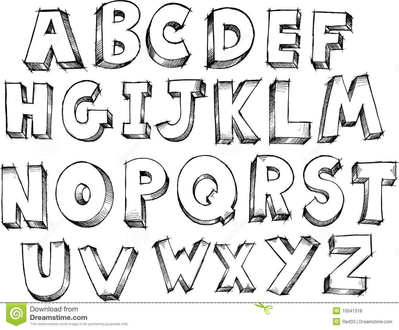 het alfabet zoeken lettering alphabet doodle