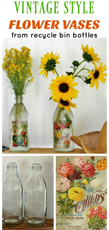 Get Well Soon Or Mother S Day Diy Flower Vase Bottles Flower
