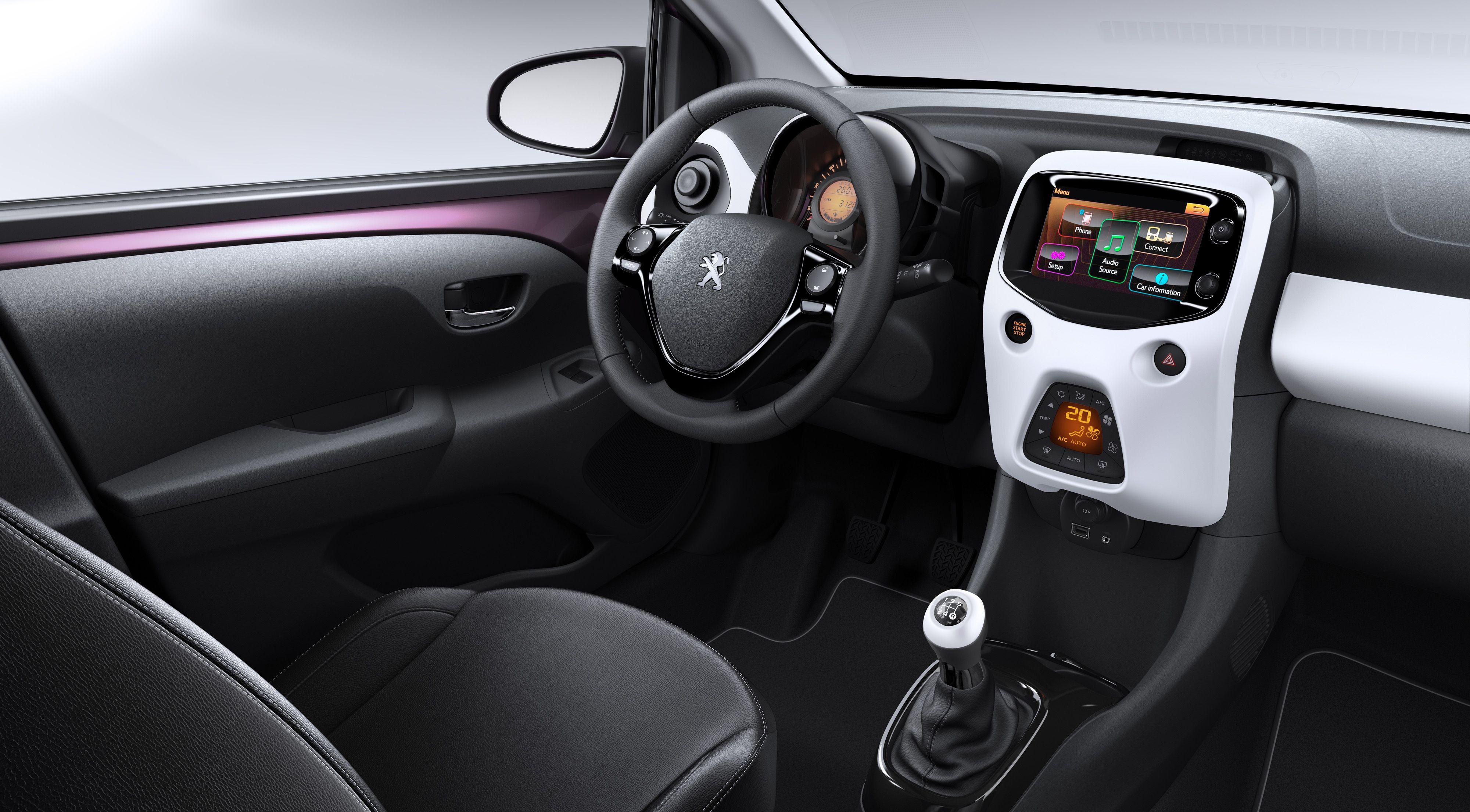 Interior Of Peugeot 108 Peugeot Psa Peugeot Citroen