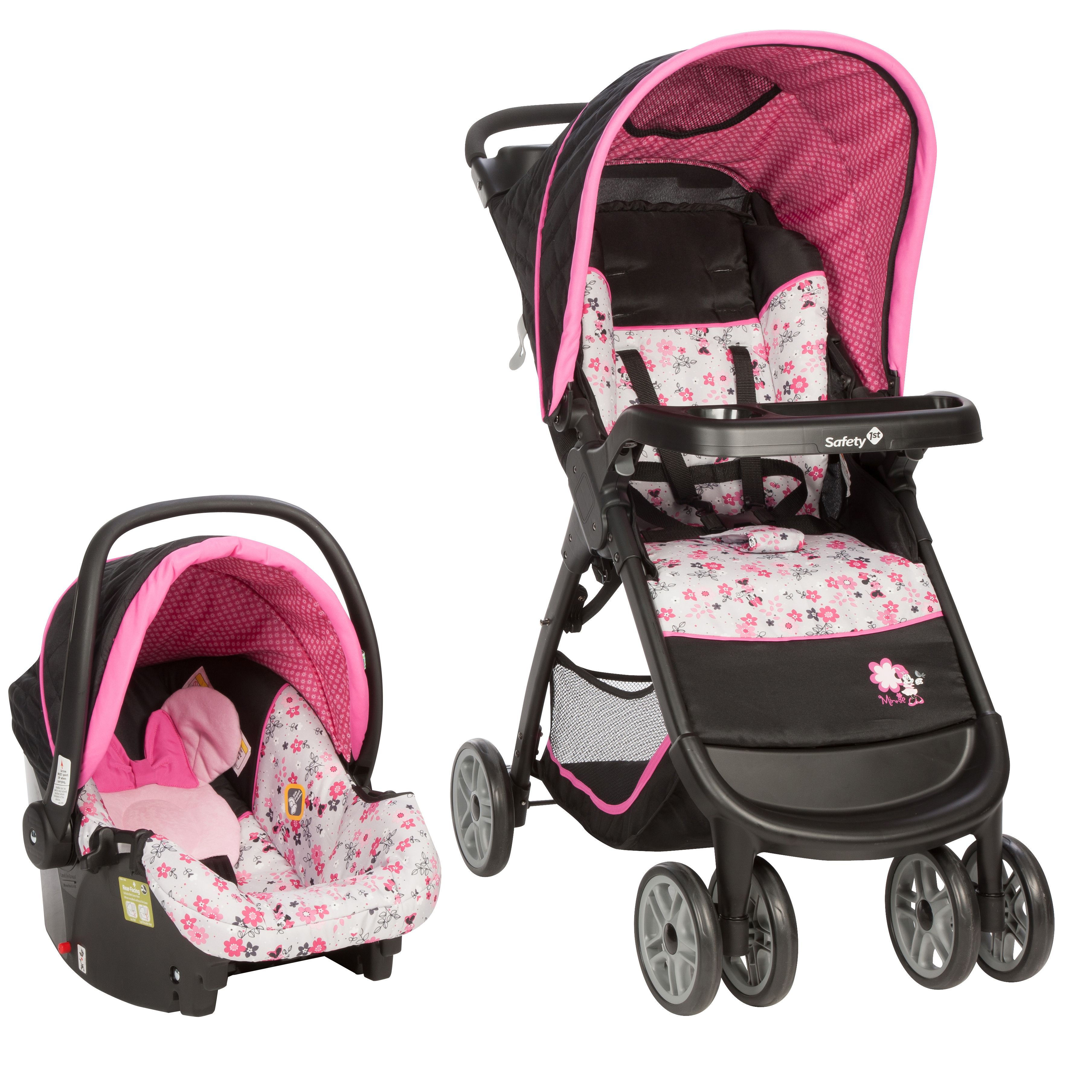 Disney Baby Minnie Mouse Amble Quad Travel System With Onboard 22