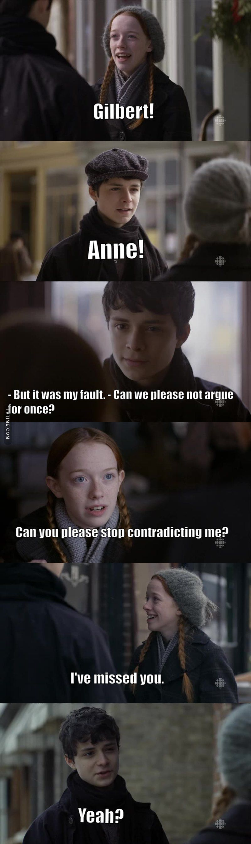 Anne With An E Memes Gilbert And Anne Anne Shirley Anne Blythe
