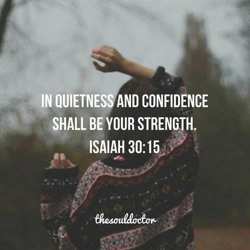 In Quietness & Confidence