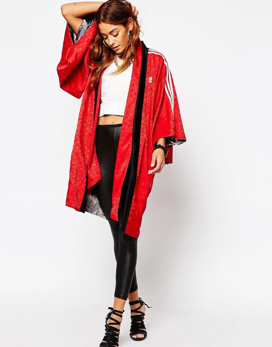 adidas Originals Rita Ora Reversible Kimono In Elegant Print