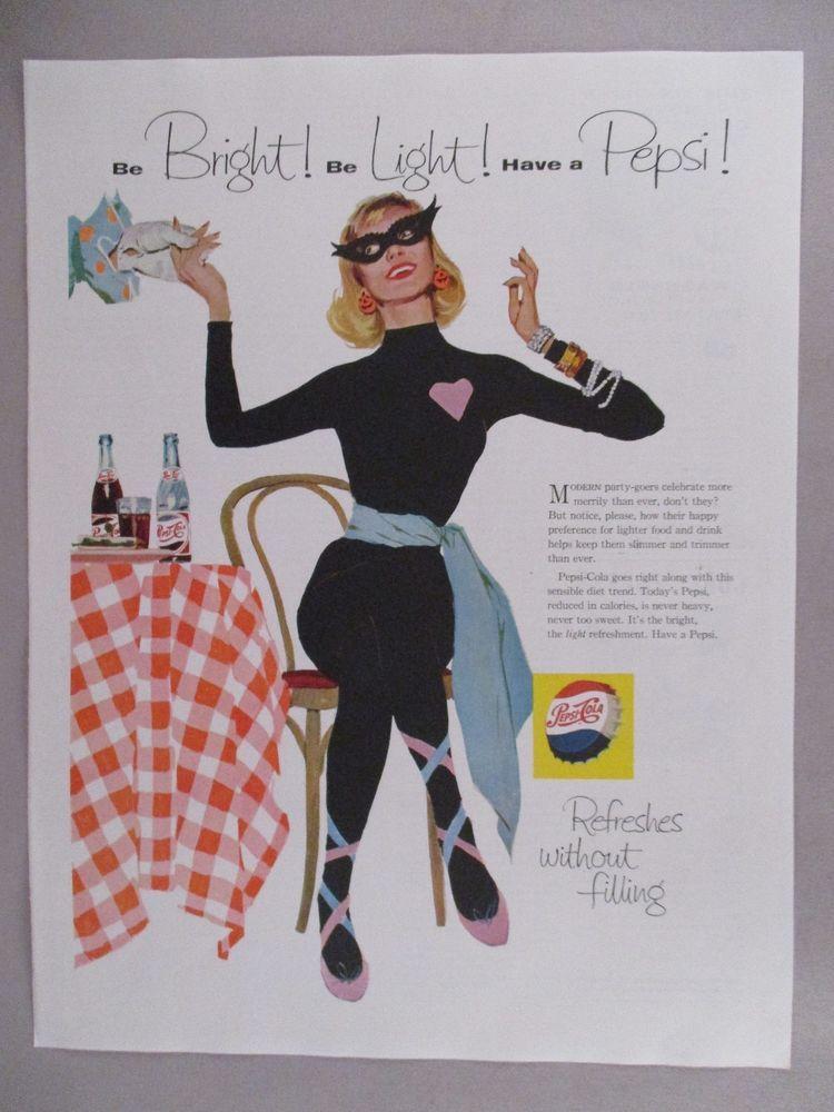 Pepsi Vs Coca Cola Halloween Ad.Pepsi Cola Print Ad 1958 Halloween Party Halloween Ads