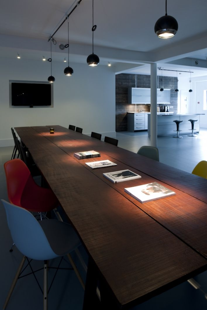 A flooding mishap gave Belfast design consultants Hamill Bosket Dempsey a chance to refresh their creative spaces.  So, armed with 6 metre rough cut mahogany planks, recycled brick pallets, sliding gear mechanism and a load of ideas, we arrived to give it the TERRY treatment. #officedesign #bespoke