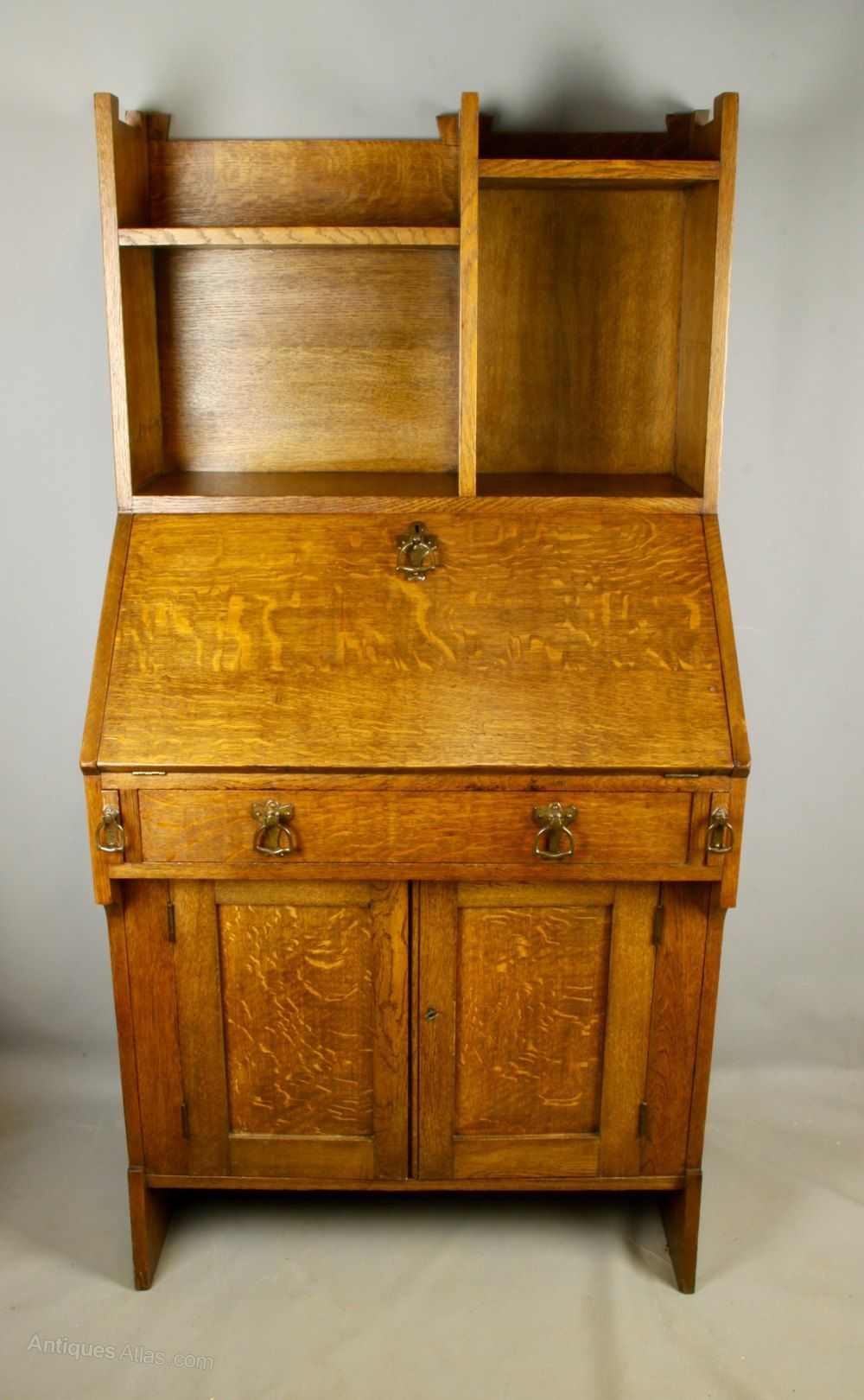 Liberty Arts & Crafts Oak Bureau, C1900 - Antiques Atlas ...