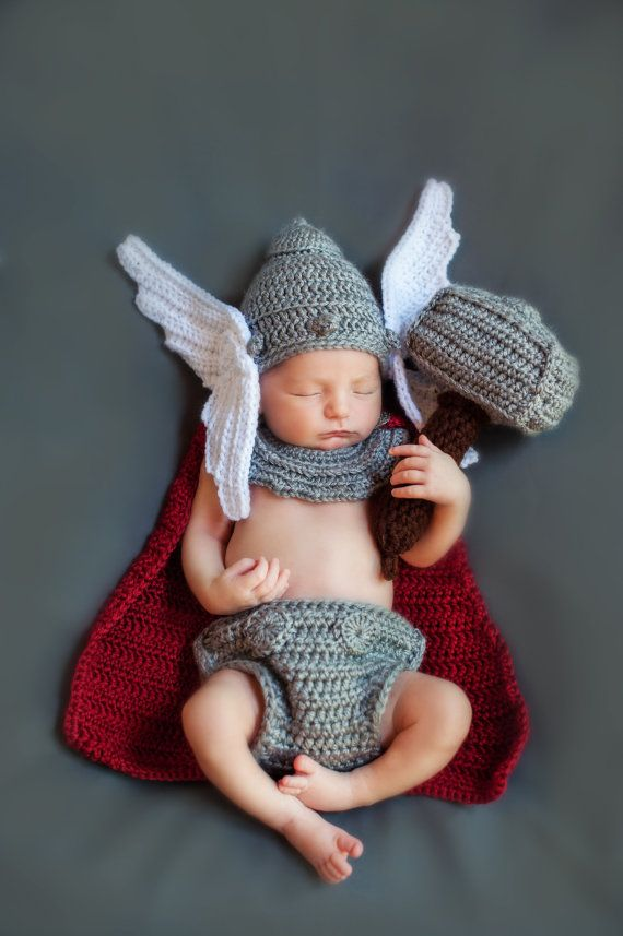FREE Shipping Thor Inspired Newborn Outfit / by BrianaKcrochet ...