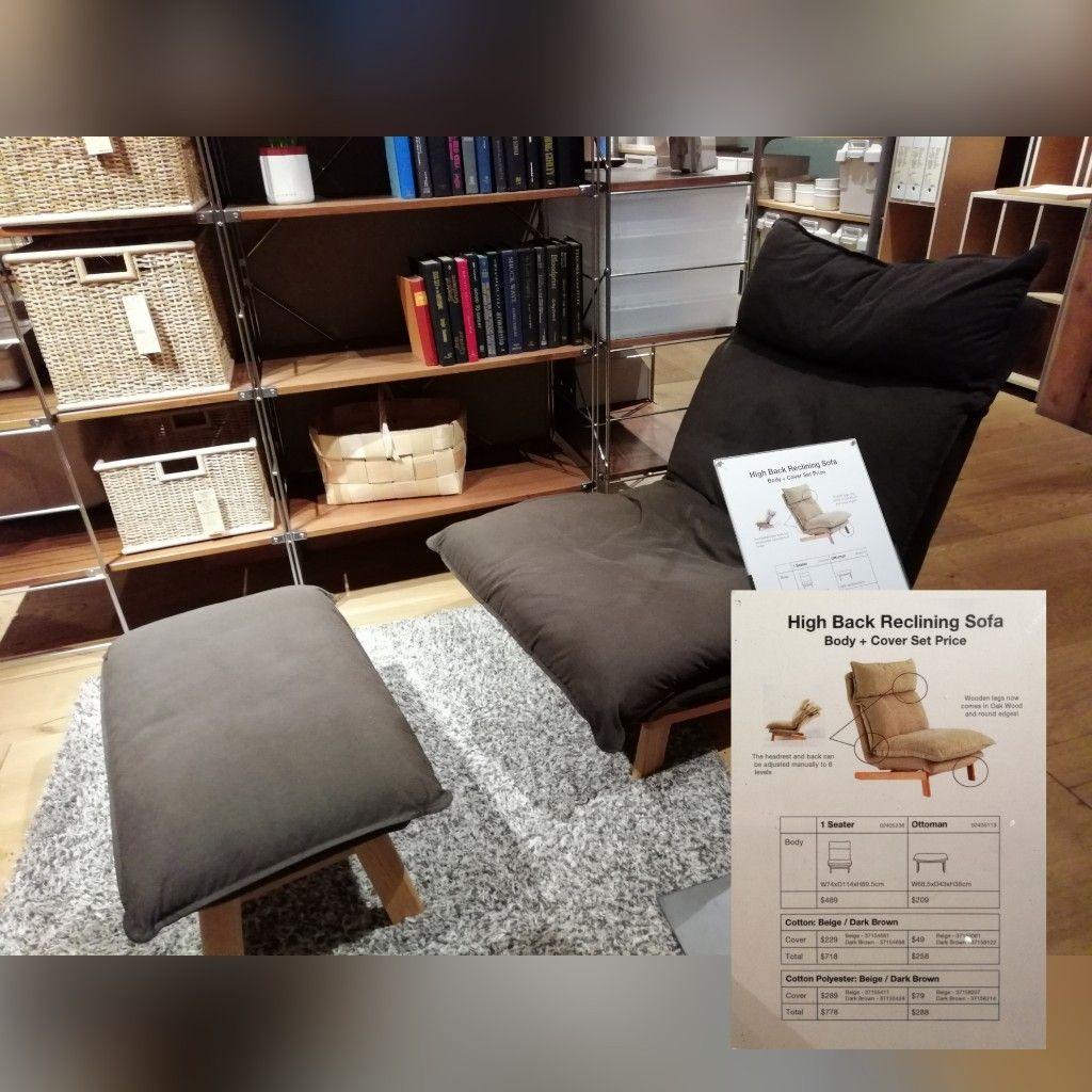 Muji high back reclining sofa (one seater) in 2019 | Home ...