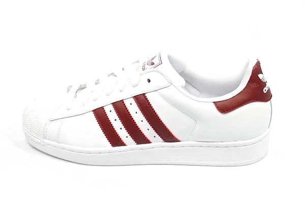 100% authentic 022a9 8bb8f Adidas SUPERSTAR II White Cardinal (Maroon)