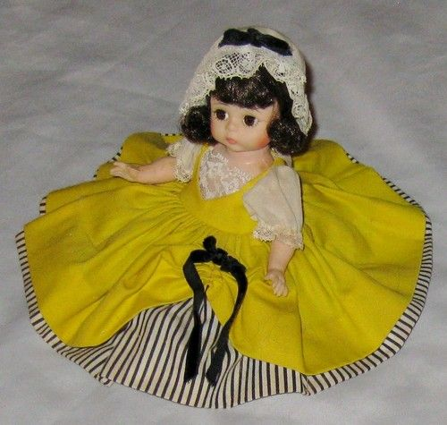Madame Alexander 8 French Doll of World Yellow Stripe Peticoat Pantiloon Hat | eBay