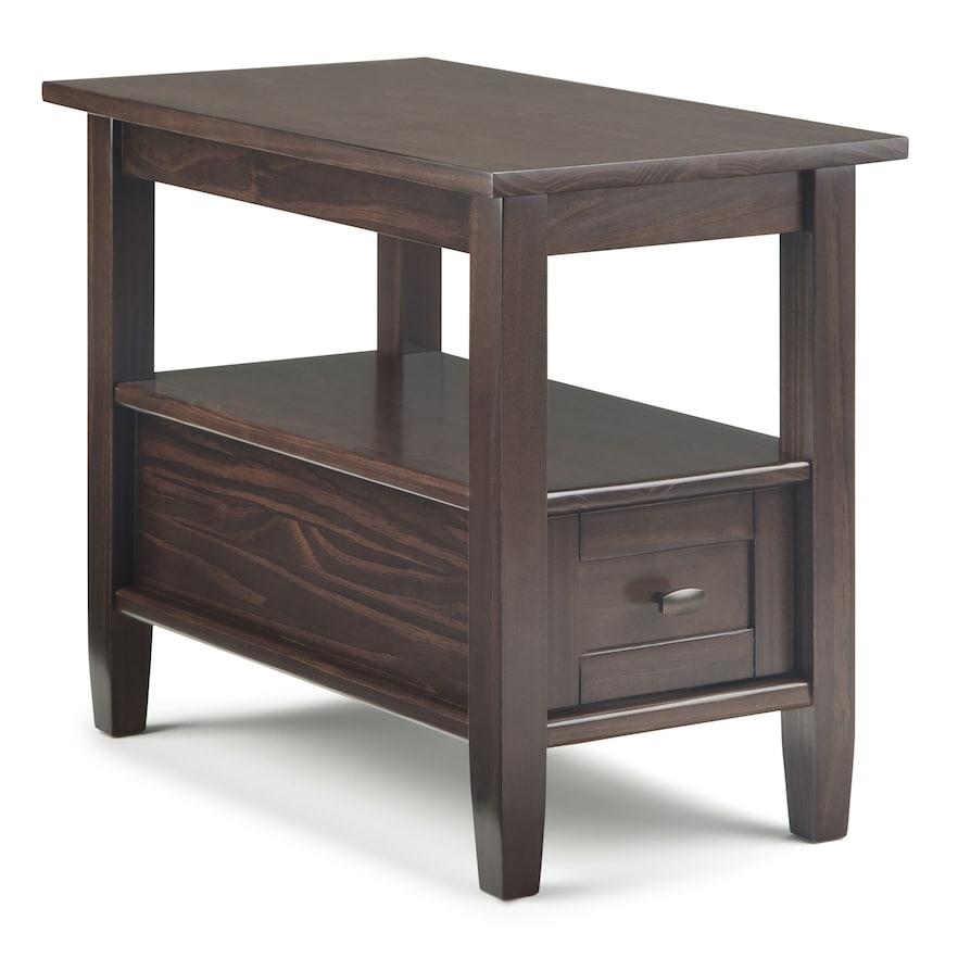 Simpli Home Warm Shaker Side Table Narrow Side Table Chair Side