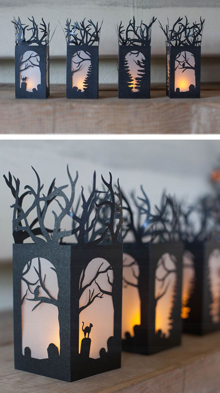 diy paper lanterns click pic for 20 diy halloween decorations for kids to make - Homemade Halloween Centerpieces