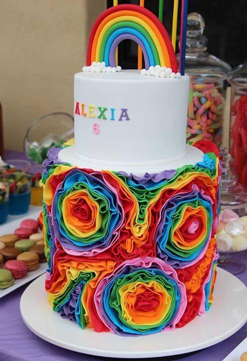 Rainbow Cake Cake Rainbow Cake Colorful Cakes