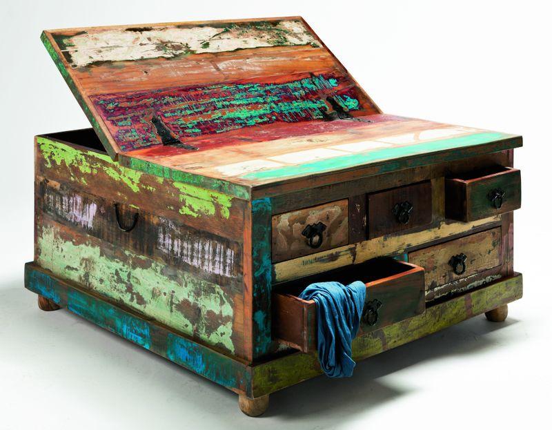 woods trends vintage couchtisch echt altholz bunt lackiert produktnummer 405005 031 00. Black Bedroom Furniture Sets. Home Design Ideas