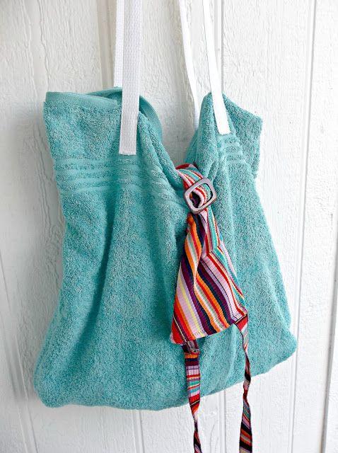 sac de plage avec une serviette de bain mode pinterest sac de plage couture et serviettes. Black Bedroom Furniture Sets. Home Design Ideas