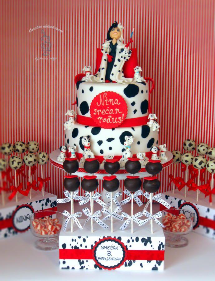 101 Dalmatians Cake By Brana Adzic Cakesdecor Kids Themed Birthday Parties 101 Dalmations Party Dalmatian Party