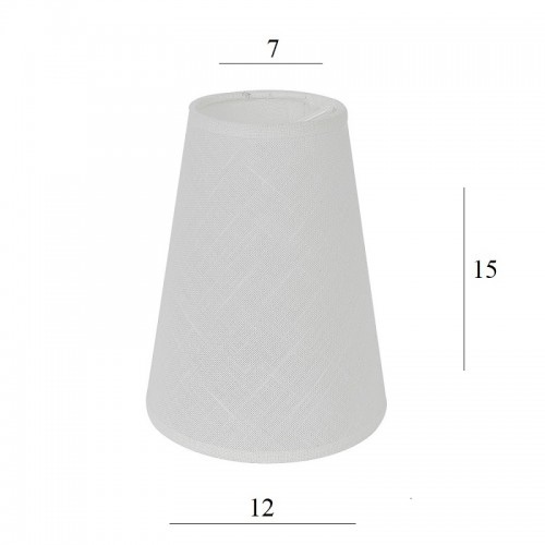 Abazur Do Lampy Stozek 2s E14 Bialy Len 7 12 Wys 15 Lamp Shade Lamp Home Decor