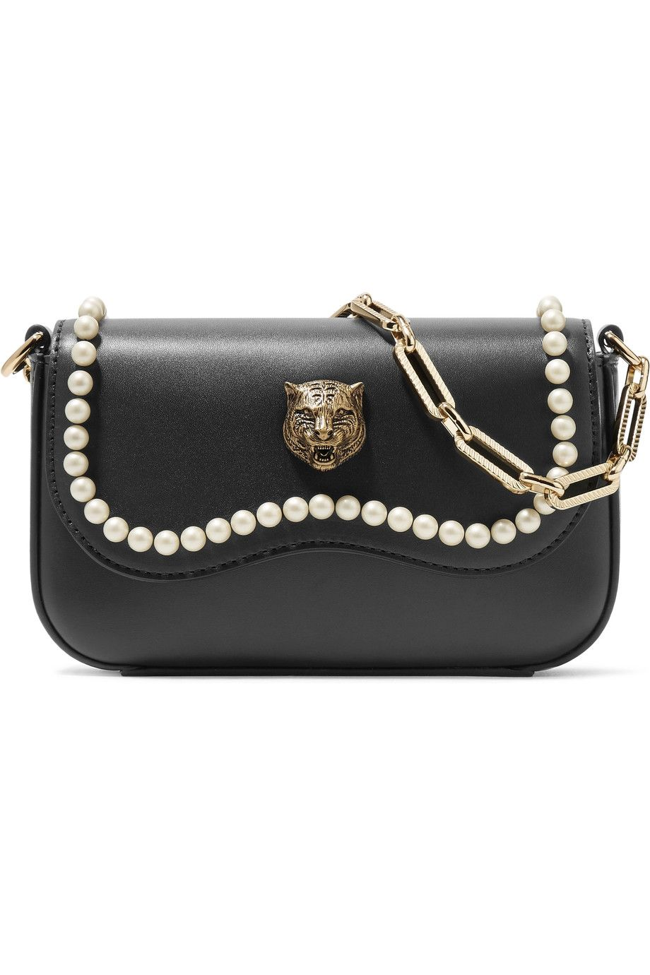 5b073b0542a GUCCI Broadway mini embellished leather shoulder bag