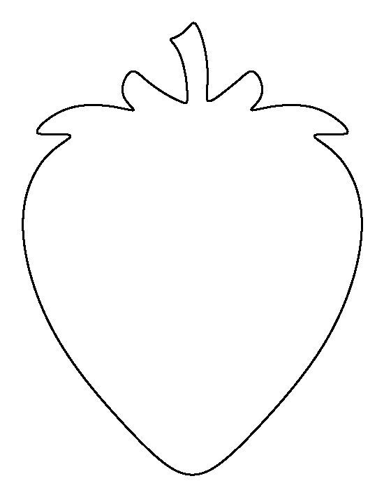 Strawberry Pattern Use The Printable Outline For Crafts Creating