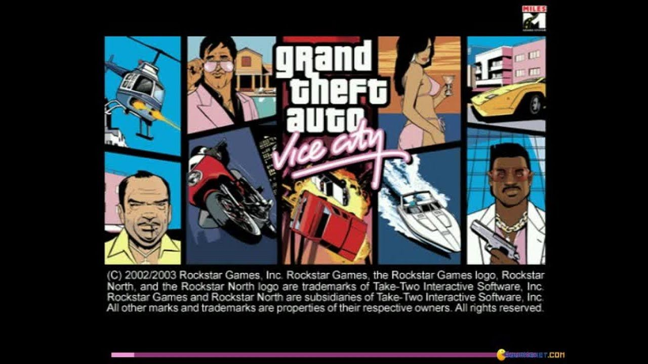 Grand Theft Auto Vice City Gameplay Pc Game 2002 Grand Theft Auto Rockstar Games Logo Gaming Pc