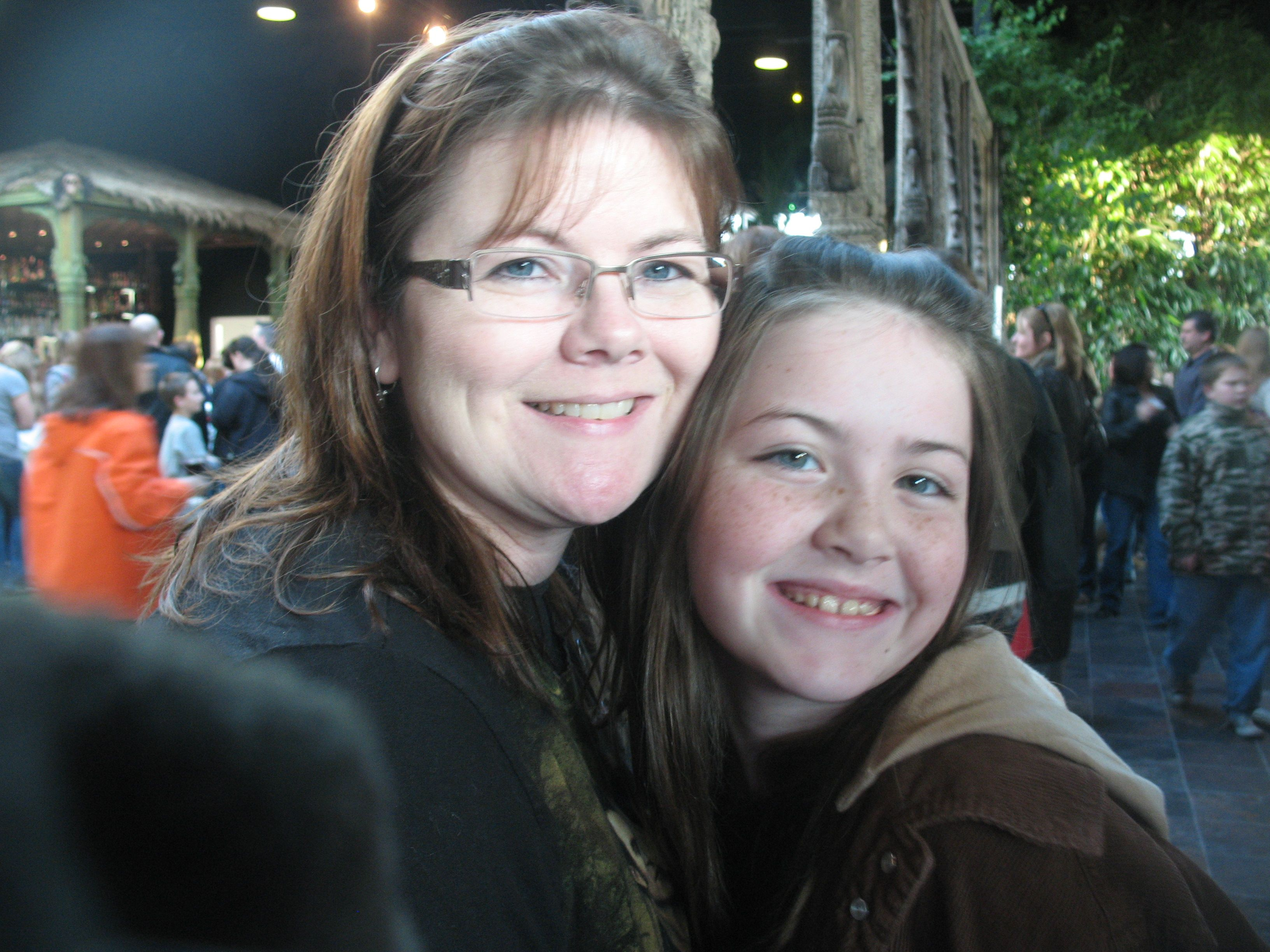 Darling Daughter and I waiting to see New Moon