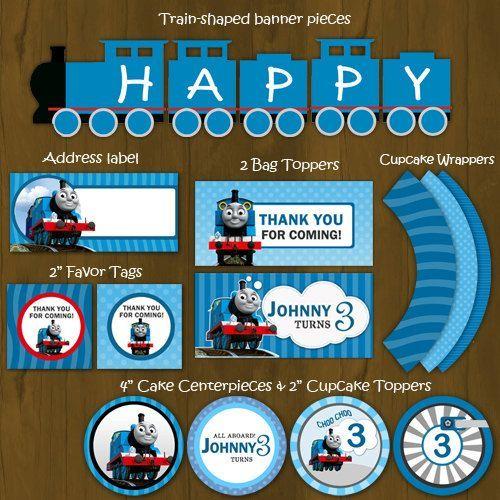 Thomas the Train Printable Birthday DIY Party Package Printable