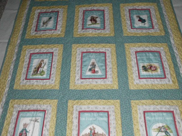 Beatrix Potter Baby Quilt Wallhanging free shipping by jltstudio, $135.00