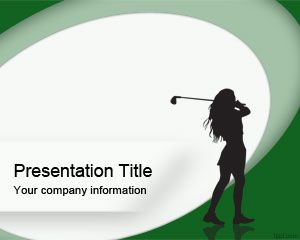Woman Golf Powerpoint Template Is A Green Sports Powerpoint