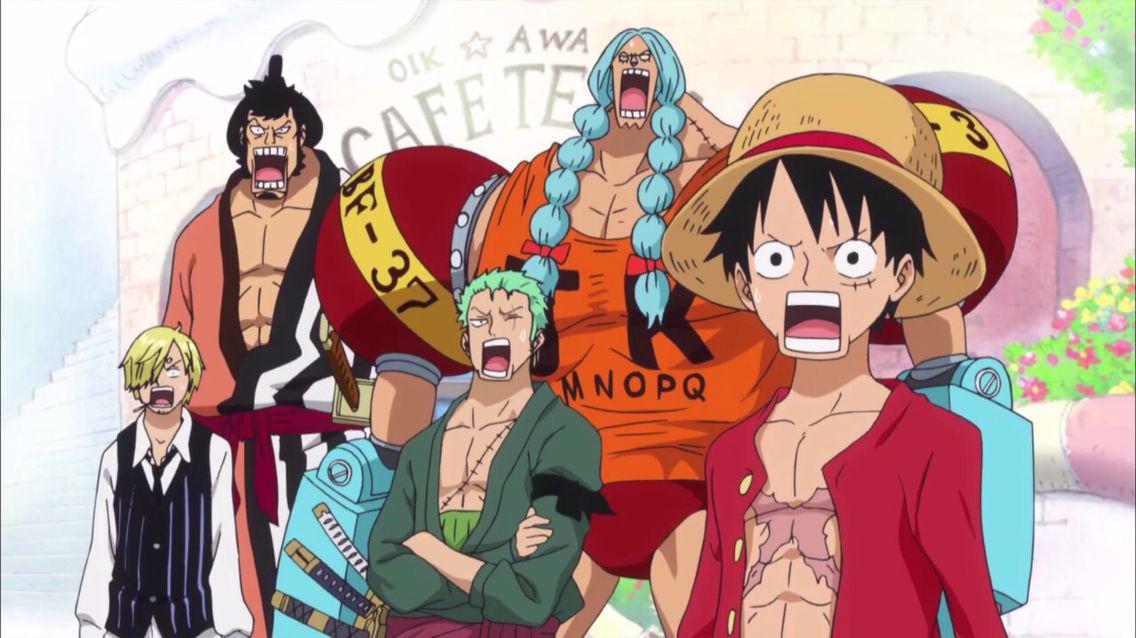 Monkey D Luffy Roronoa Zoro Sanji And Franky One Piece Anime One Piece Island Wallpaper