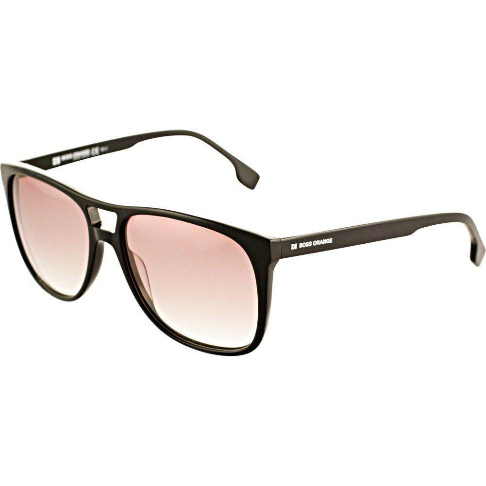 fc69a1339 Hugo Boss Orange 0062/S Adult Rectangular Full Rim Lifestyle Sunglasses -  Black/Brown
