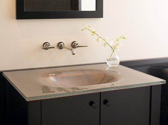 wall mount faucet bathroom vanity. Bathroom  Black Vanity Combined With Transparent Glass Sink And Wall Mounted Faucet