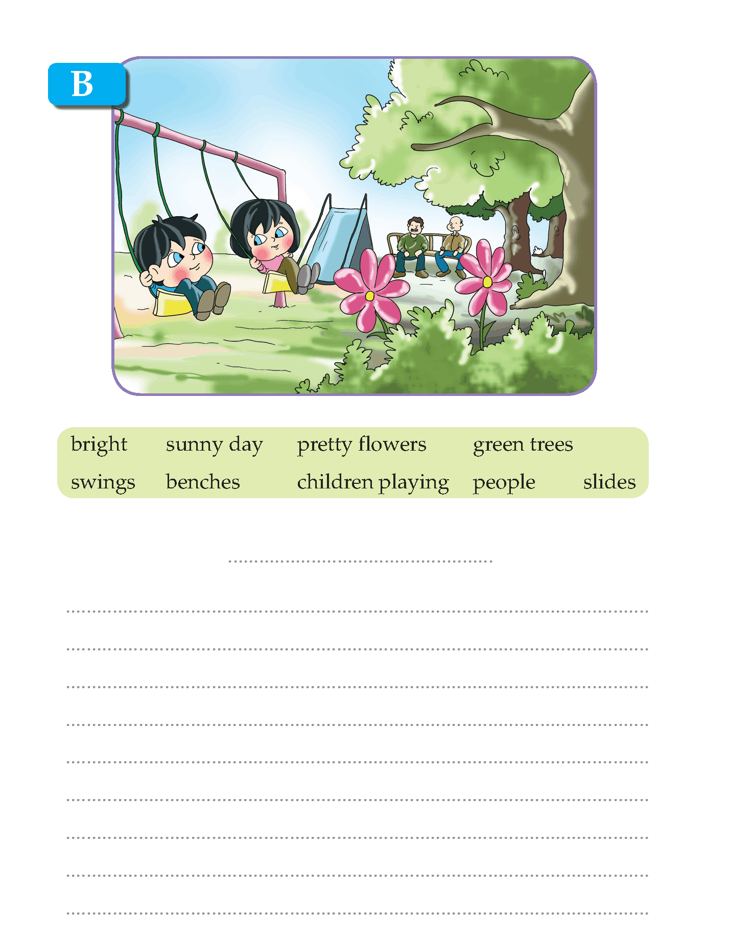 small resolution of Writing skill -grade 3 - picture composition (4)   English writing skills