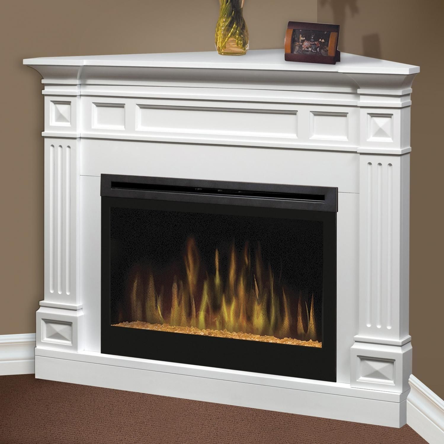 white corner electric fireplace corner electric fireplace with