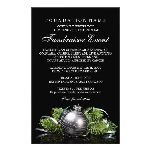 Holiday Fundraiser Flyer Templates  Charity Event Flyers