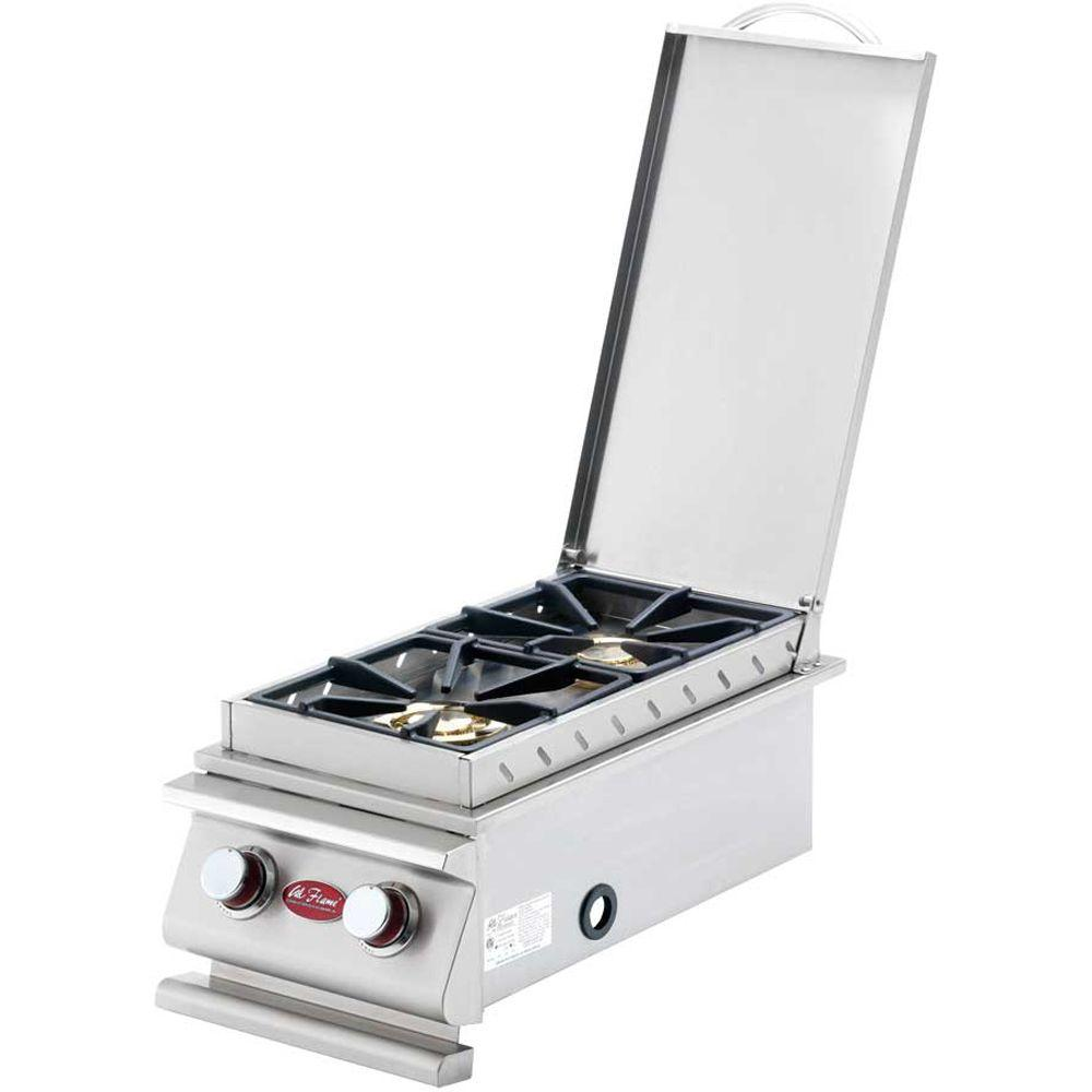 Cal Flame Deluxe Stainless Steel Built-In Dual Fuel Gas Double Side