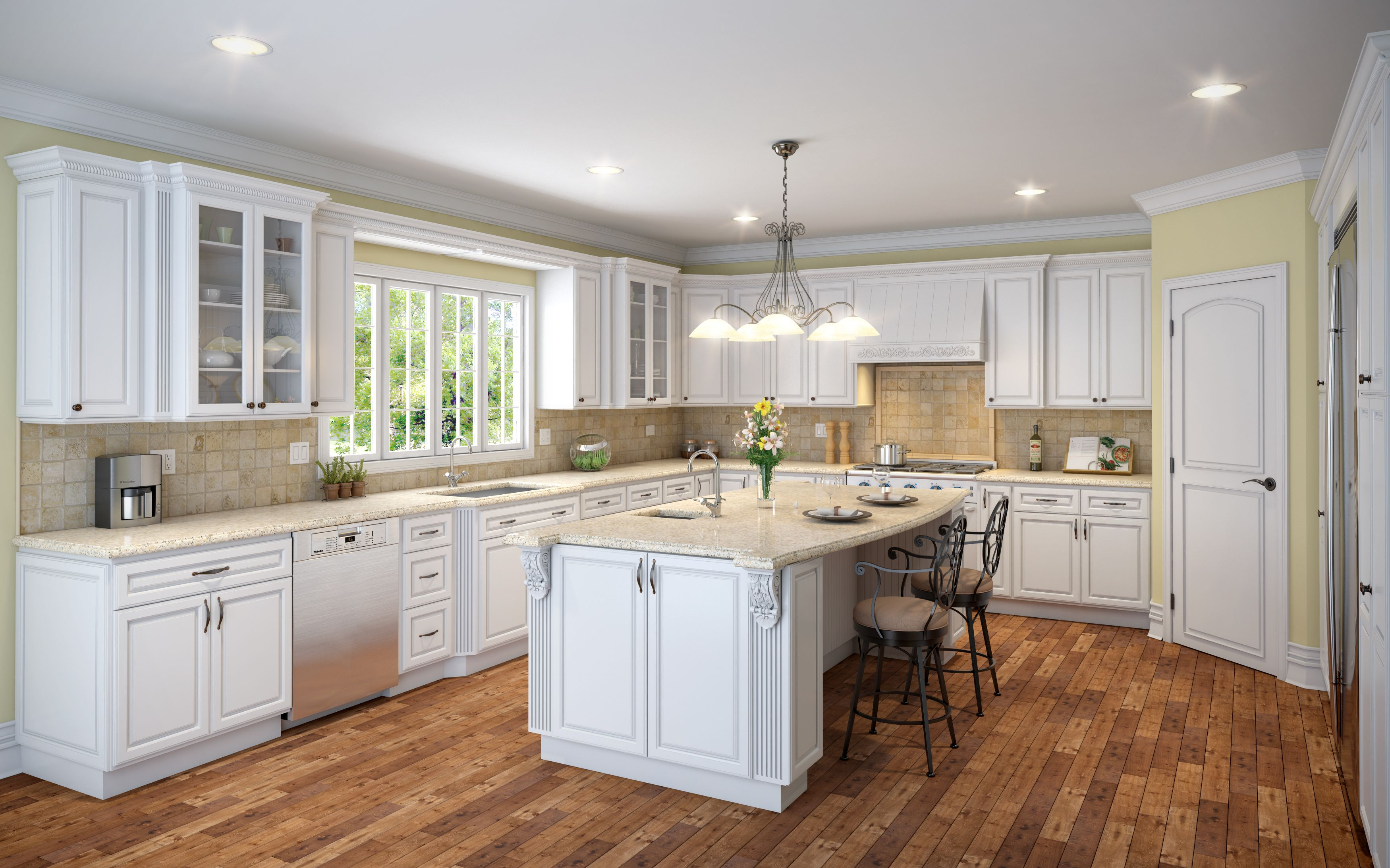#Design Your Owner #Kitchen!~ Raised panel doors have long ...