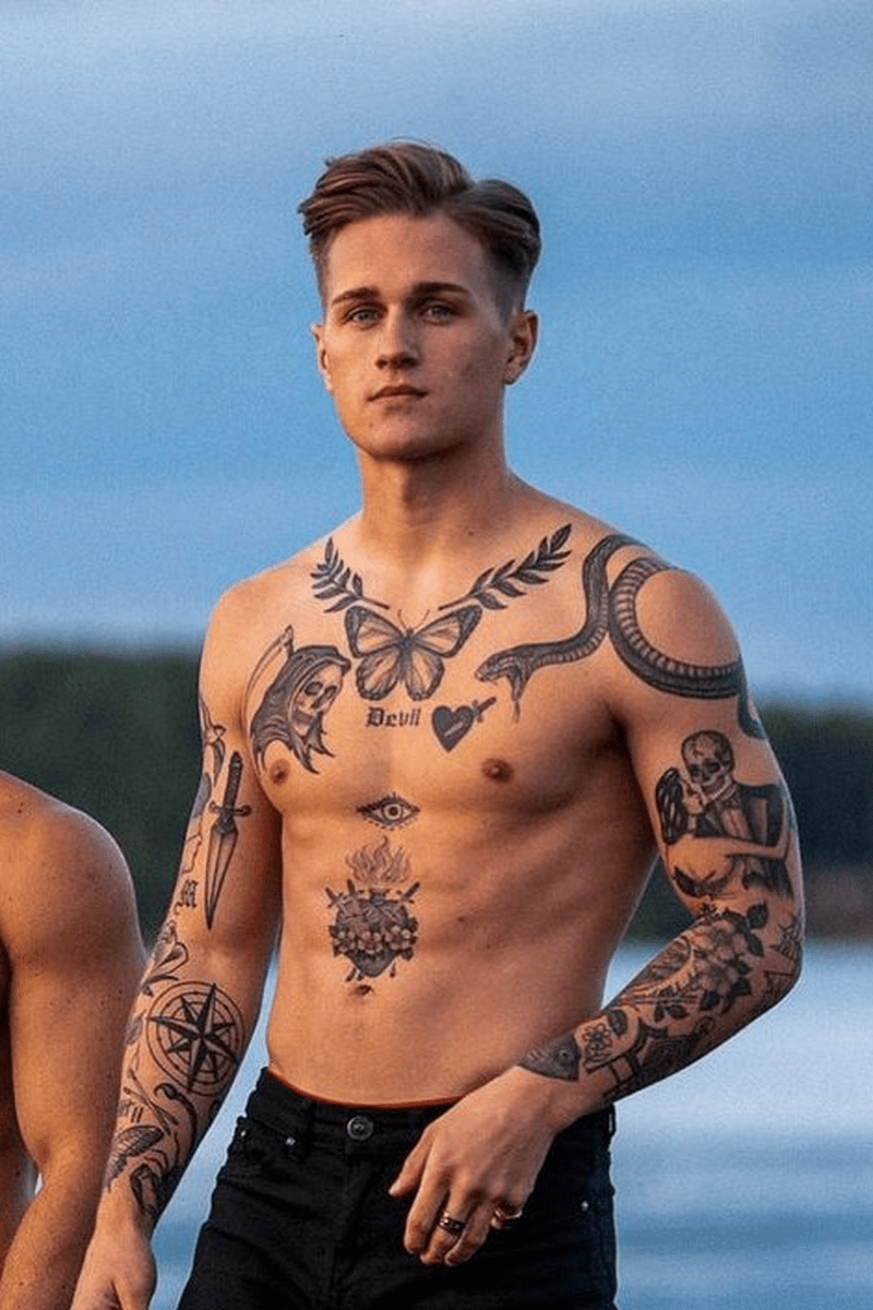 40 Cool Tattoo Designs To Change Your Style In 2020 Chest Tattoo Men Small Chest Tattoos Tattoos For Guys
