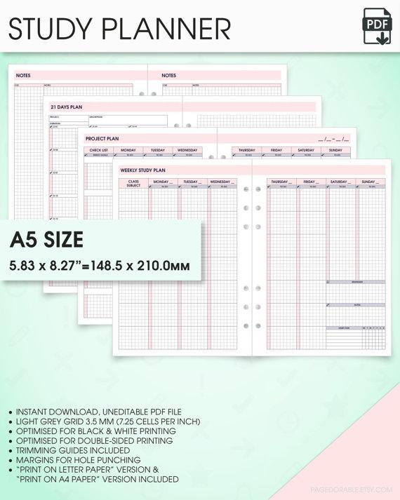 student agendas printable