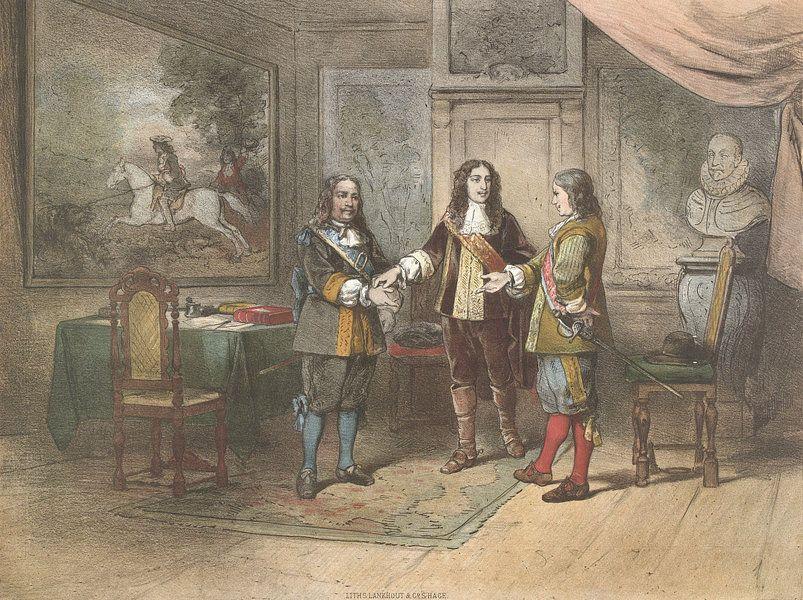 Willem Iii Verzoent Michiel De Ruyter En Cornelis Tromp Van