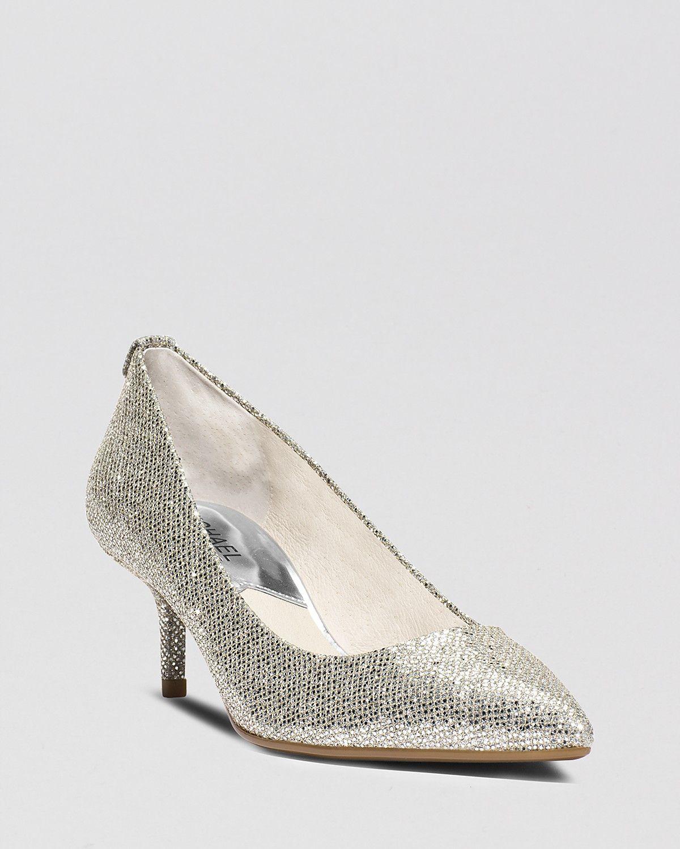 reliable quality buy sale discount MICHAEL Michael Kors Pointed Toe Pumps - MK Flex Kitten Heel ...