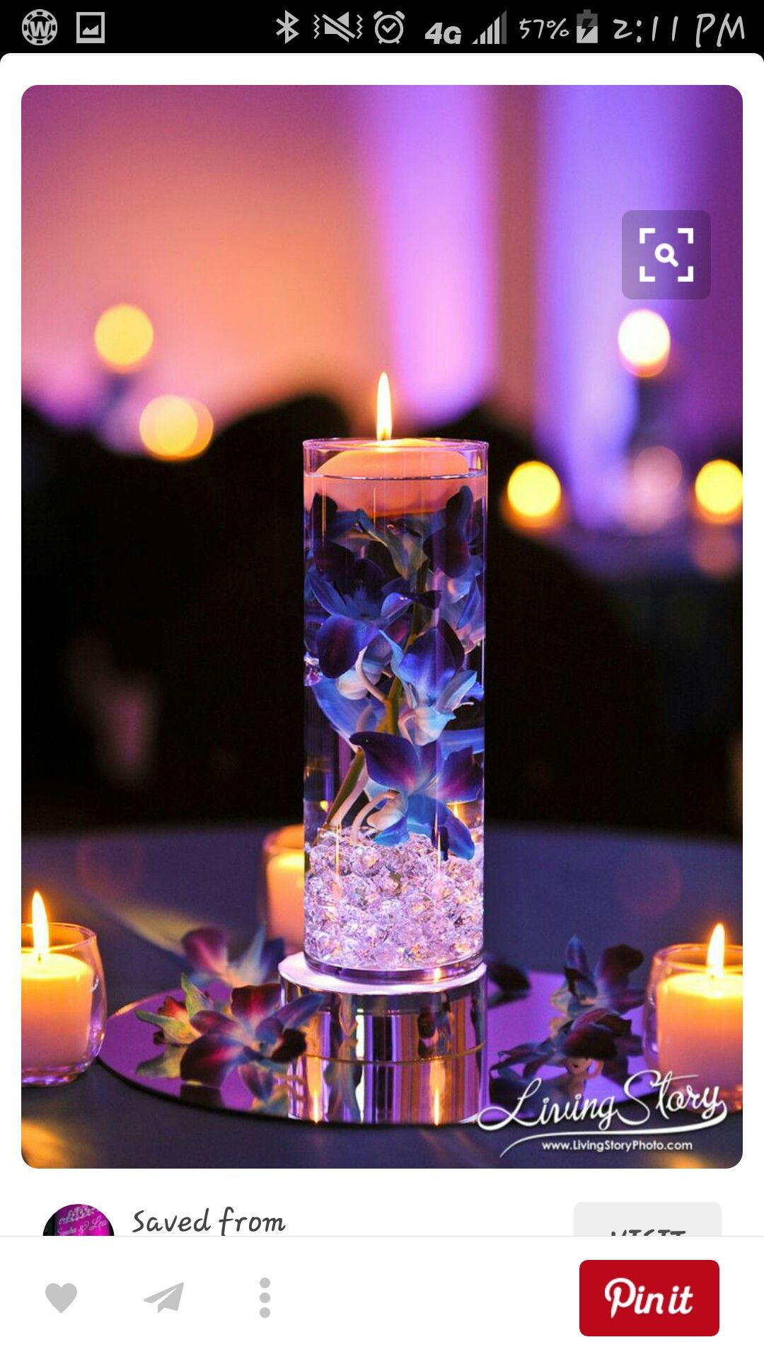 Center Piece Floating Candle Centerpieces Wedding Decorations