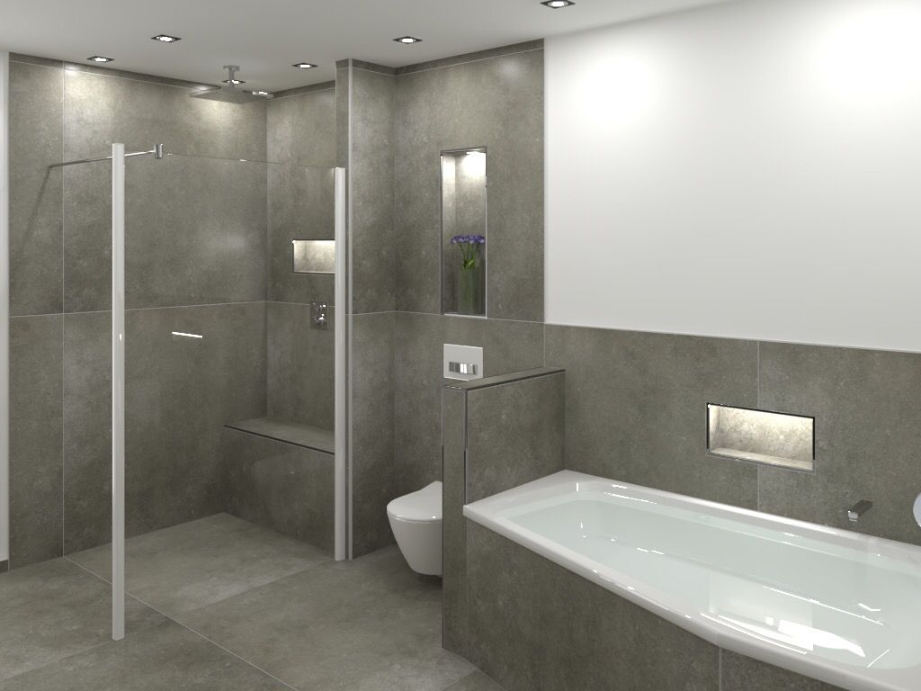 Wandnischen Im Badezimmer Badezimmer Badezimmer Innenausstattung Badezimmer Umgestalten