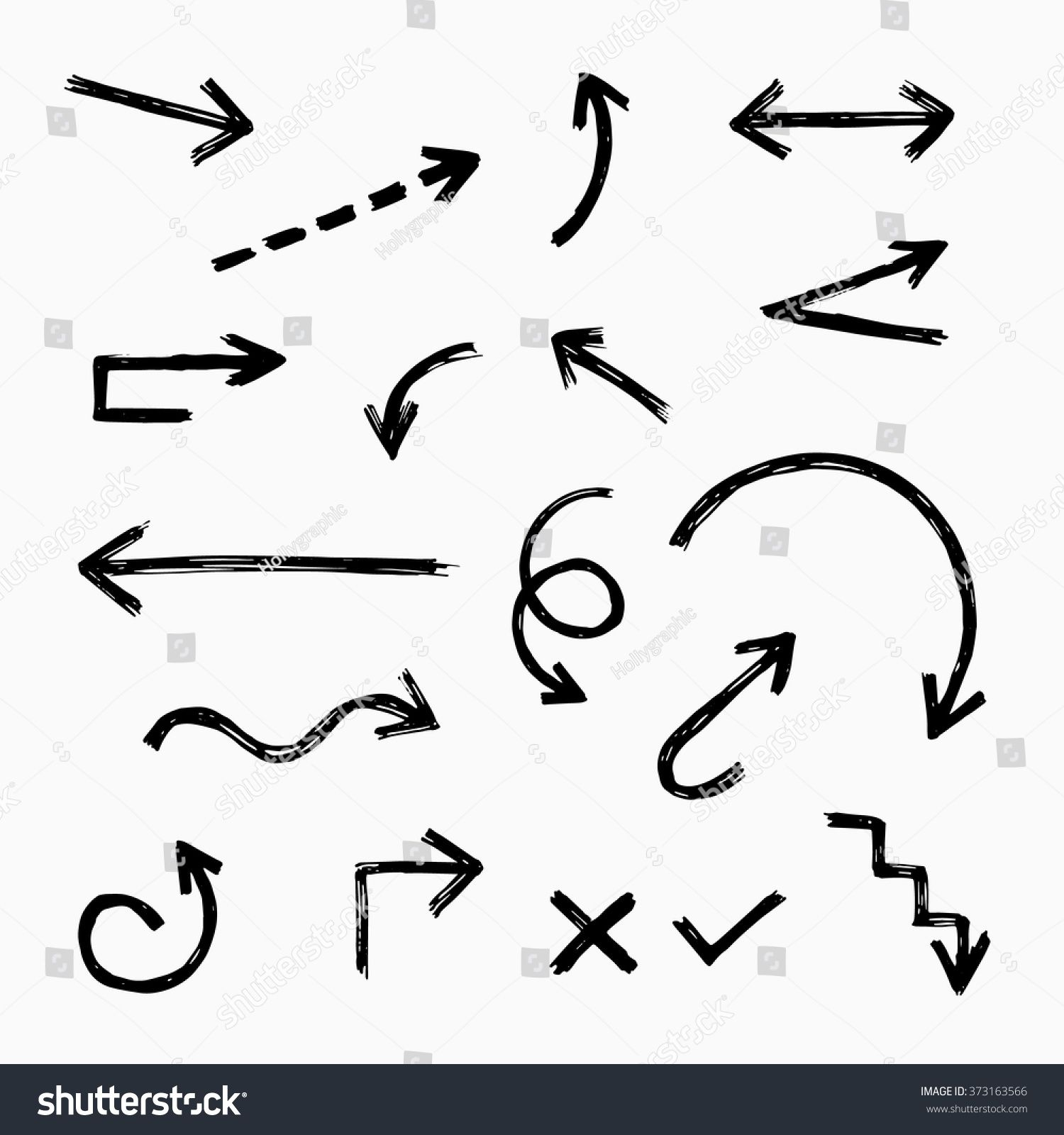 Hand Drawn Arrow Set Collection Of Black Direction Pencil Sketch Symbols Vector Illustration Graphic D How To Draw Hands Hand Drawn Arrows Lettering Tutorial