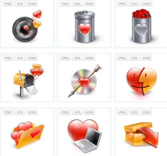 Saint Valentine's Day Icons Set