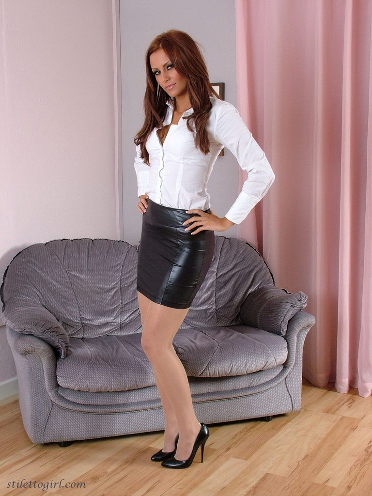 Slut in miniskirts and stilettos