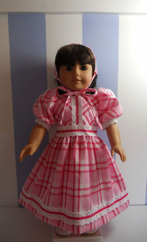CLEARANCE Pink and White Plaid American Girl by RebeccasHeirlooms, $19.99
