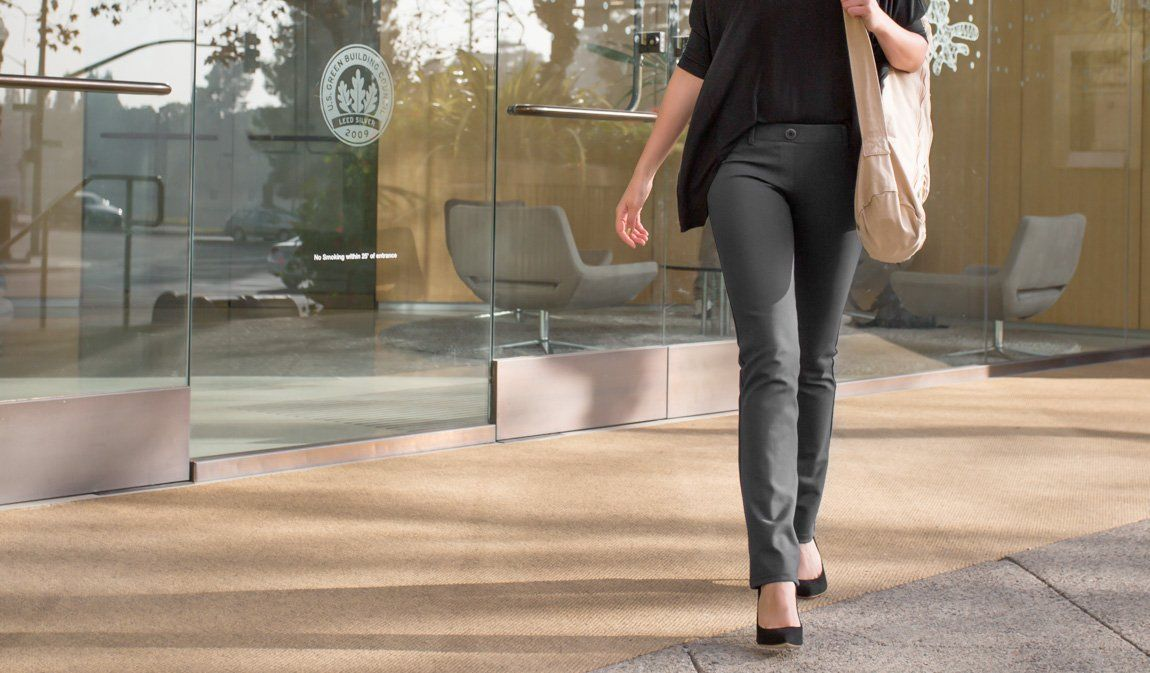 1db14558f43fe Gray Dress Pant Yoga Pants - Betabrand. Dress pants that fit like yoga pants.  How cool is that?
