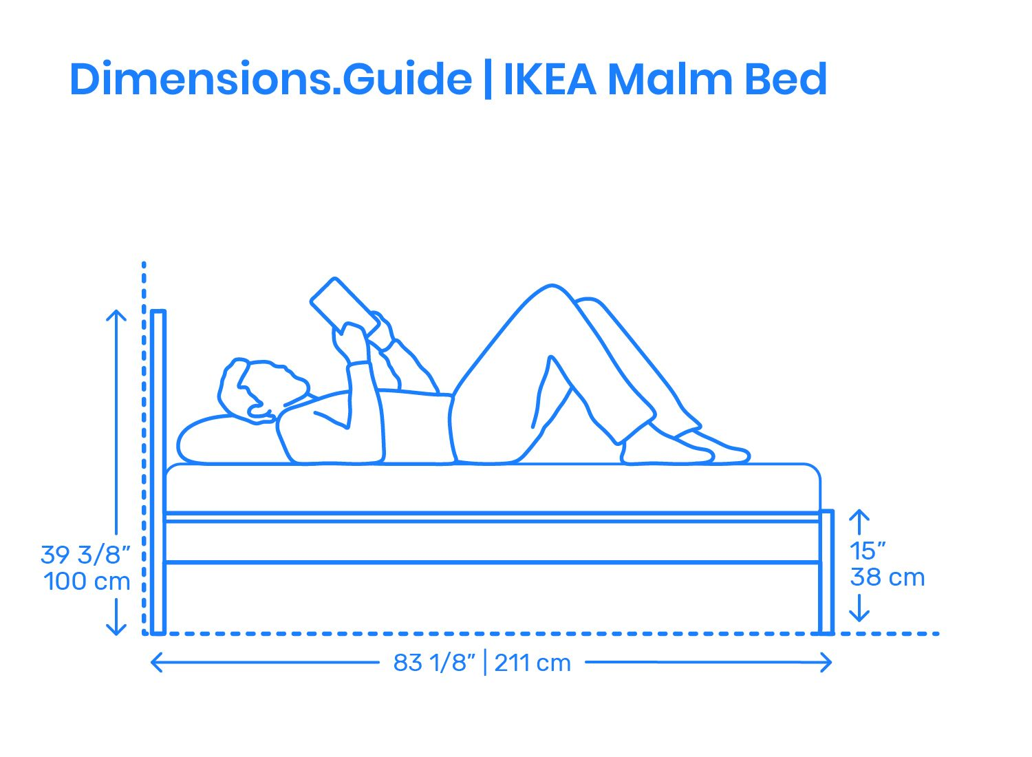 The Ikea Malm Bed Is A Popular Wood Veneer Bed Frame With A Flat